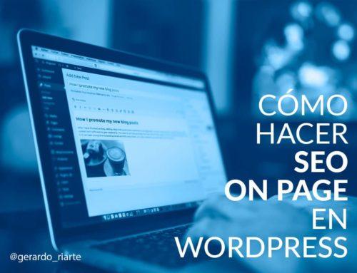 Cómo hacer SEO on page en wordpress